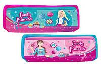 Пенал на 2 молнии (голубой, малиновый) KIDIS, серия CANDY PRINCESS (принцесы) /270/