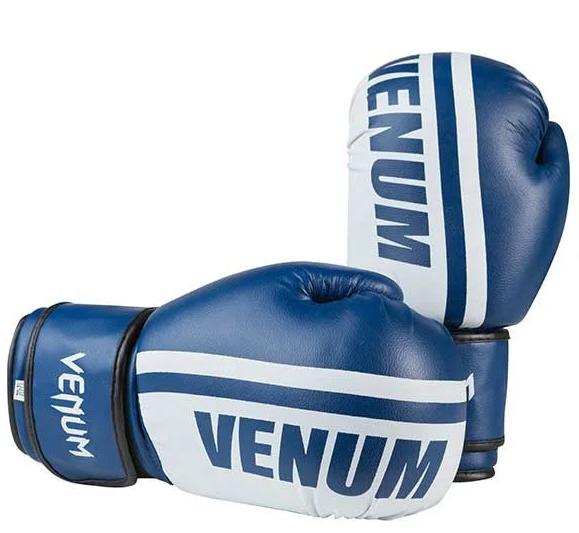 Перчатки боксерские VENUM VM19-12B синие размер 12 унц. (реплика)