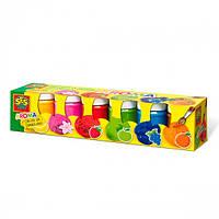 """Гуаш - АРОМА  """"SES"""" (6 кольорів, у пластикових баночках)"""