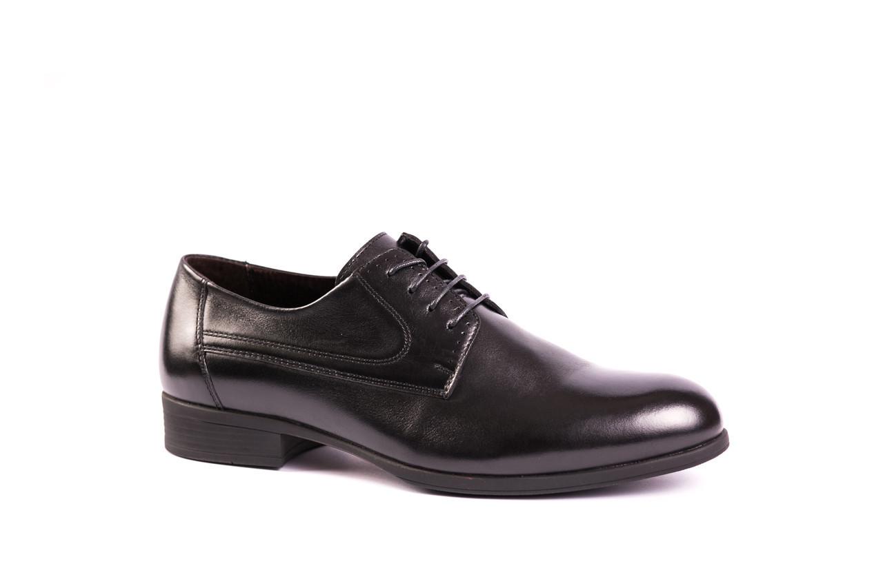 Кожаные чорні туфли IKOS