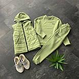 Женский спортивный костюм - тройка утепленный флисом - свитшот, штаны и жилет 66051149Е, фото 4