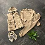Женский спортивный костюм - тройка утепленный флисом - свитшот, штаны и жилет 66051149Е, фото 2