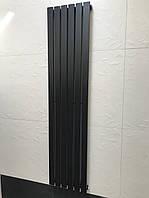 Радиатор дизайнерский вертикальный TERNI 6/1800 Черный матовый 1800*354, фото 1