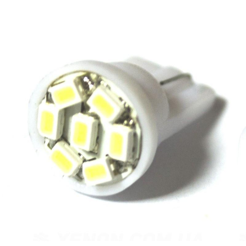 LED Galaxy T10 ( W5W ) 1206 7SMD White (Белый)