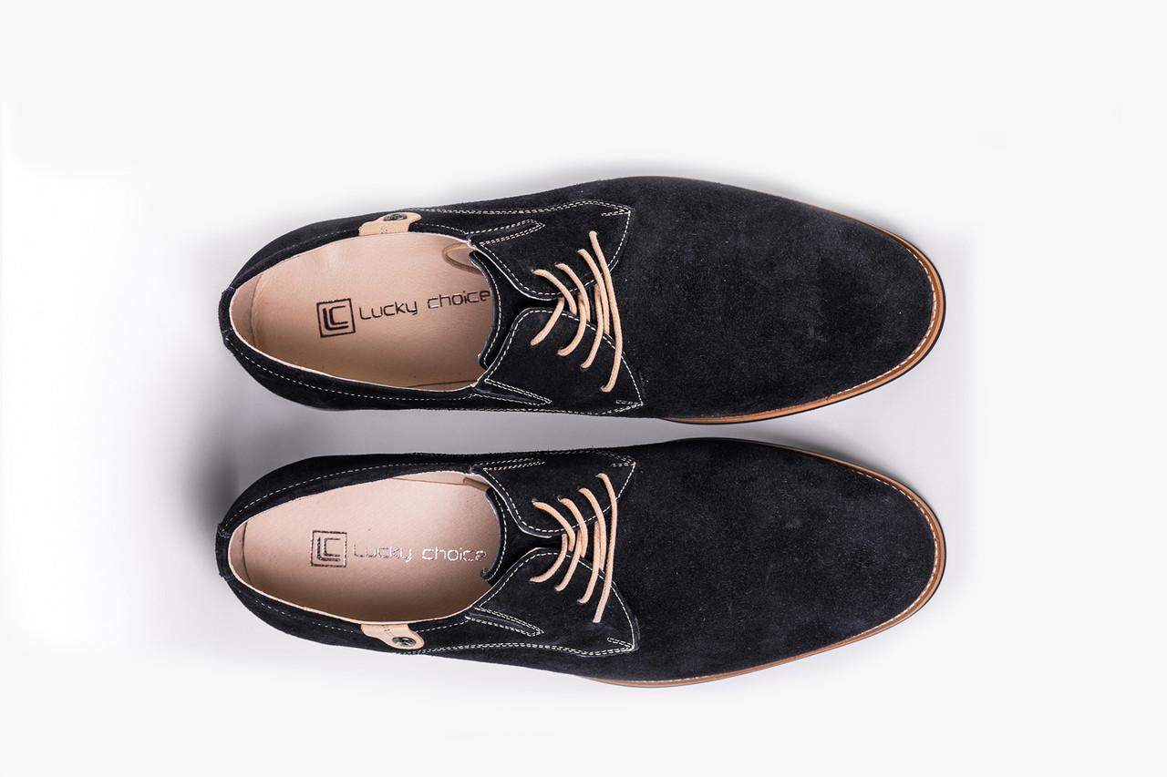 Туфлі замшеві Lucky Choice сині