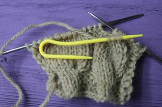 Вязание жгута (косы) без дополнительной спицы