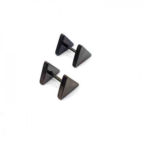 Сережки с закручивающейся застежкой Треугольники унисекс 176371