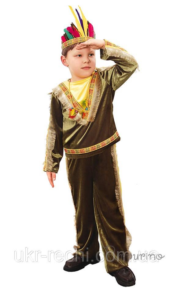 Детский карнавальный костюм Индеец Код 338