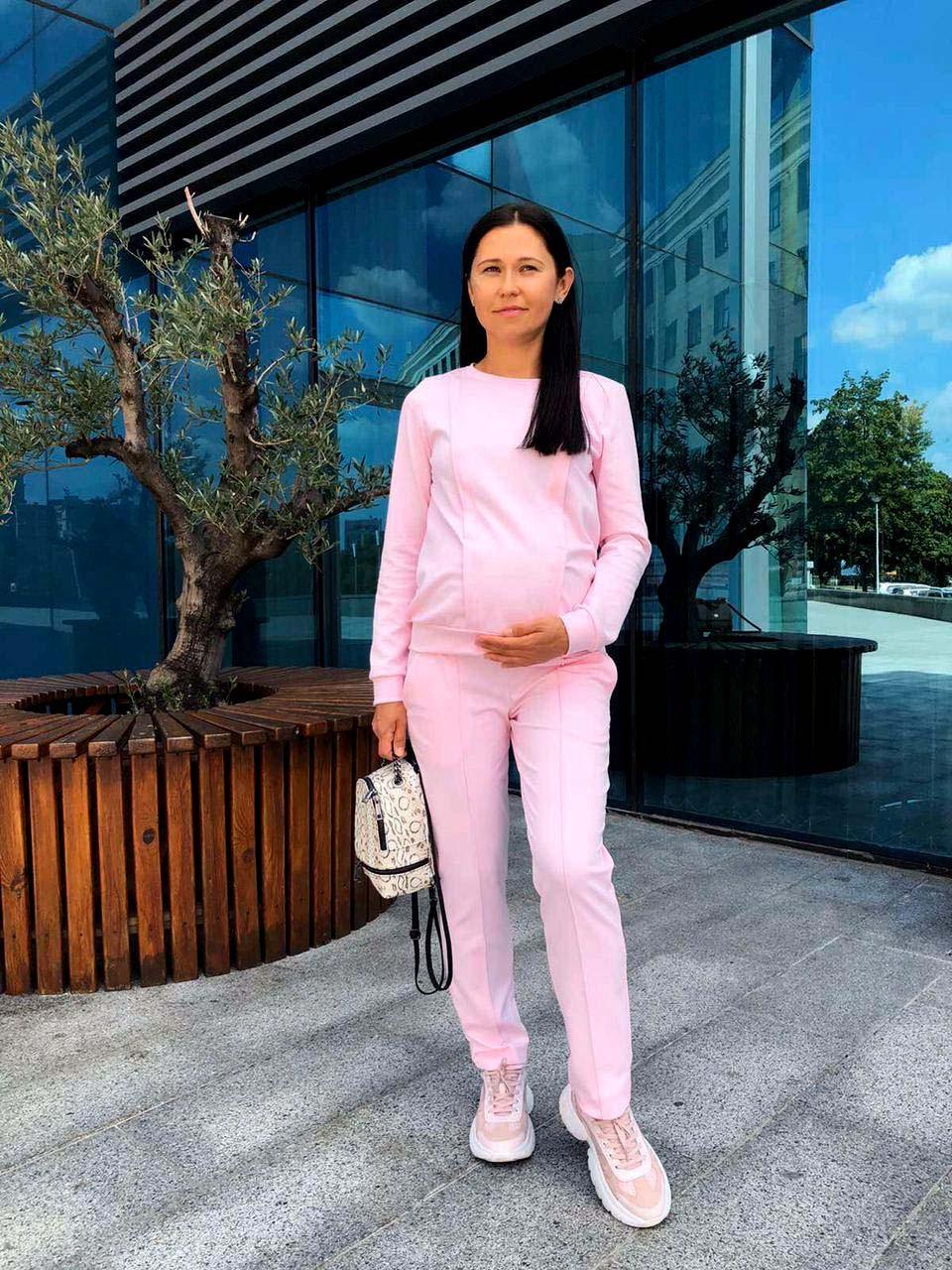 Костюм для вагітних з секретом для годування Pink