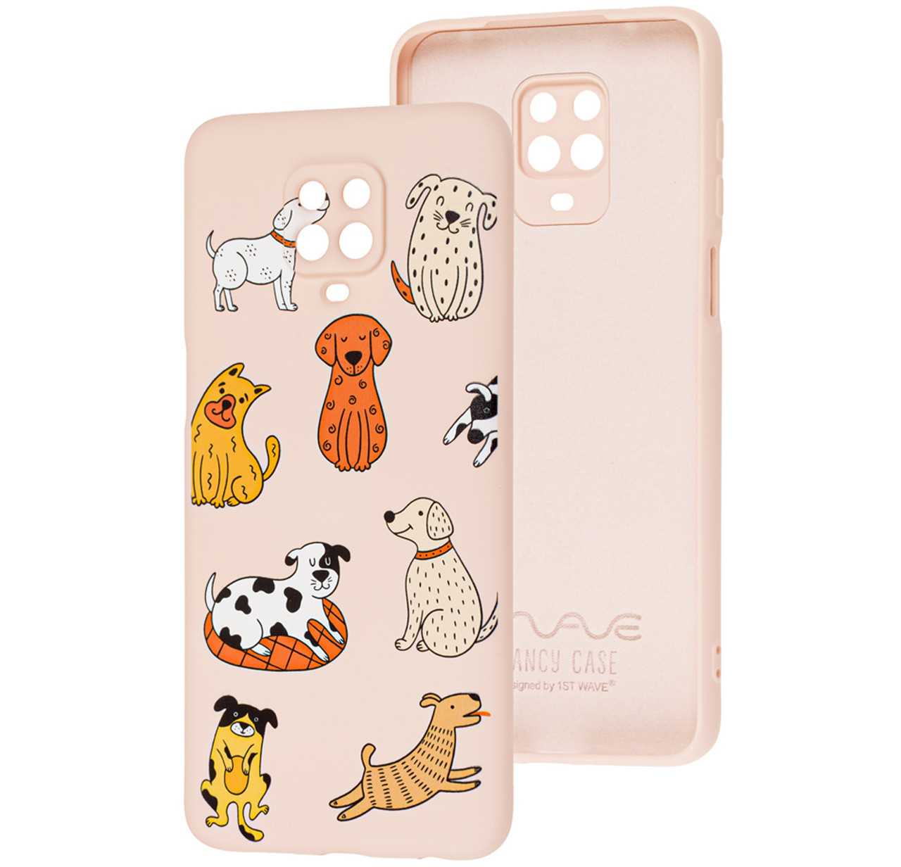 Чехол-накладка TPU WAVE Fancy Case для Xiaomi Redmi Note 9s /Note 9 Pro /Note 9 Pro Max Pink Sand (Funny Dogs)