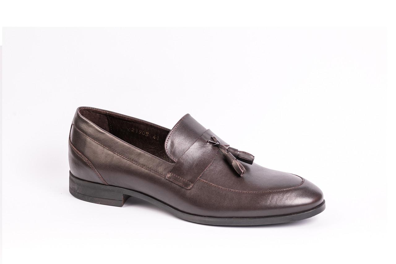 Туфли лоферы Ікос коричневые