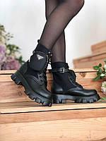 Женские ботинки Prada Monolith \ Прада Монолис \ Жіночі черевики Прада Моноліс
