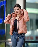 Женская куртка осень-весна бежевого цвета, фото 1