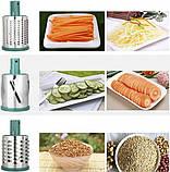 Многофункциональная овощерезка Meileyi Vegetable Slicer Бирюзовая MLY-661A, фото 7