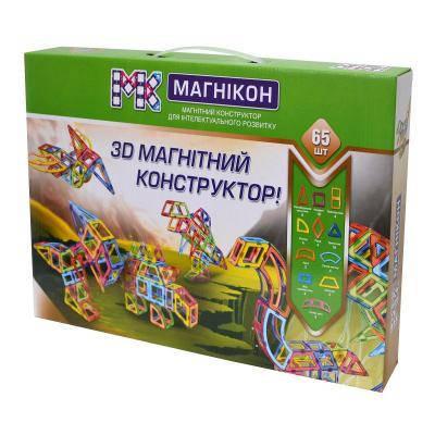 Конструктор Магнікон 65 деталей (MK-65)