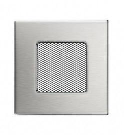 Вентиляційна решітка для каміна Kratki 11х11 см inox без жалюзі
