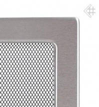 Вентиляційна решітка для каміна Kratki 11х11 см inox без жалюзі, фото 2