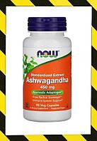 Now Foods, Ашвагандха, (витанолиды) Ашваганда 450 мг, 90 раст капсул, фото 1