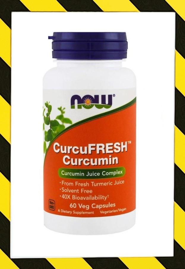 Now Foods, Стандартизованный порошок куркумы Curcumin, Куркумин 700 мг 60 капсул