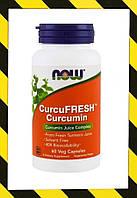 Now Foods, Стандартизованный порошок куркумы Curcumin, Куркумин 700 мг 60 капсул, фото 1
