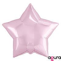 Фольгированный шар 19' Agura (Агура) Звезда Нежно-розовый, 49 см