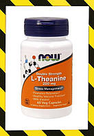 Now Foods, L-Theanine, L-теанин двойная сила, 200 мг, 60 капсул, фото 1