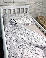 """Комплект детской постельки в кроватку """"Геометрия"""" / Комплект дитячої постільки для ліжка """"Міні геометрія"""""""