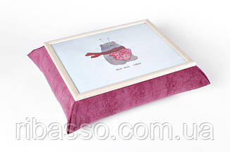 Поднос на подушке BST 210011 47*37  бело-розовый Pretty bear