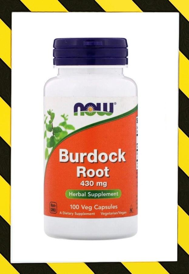 Now Foods, Корень лопуха (Arctium lappa) 430 мг, 100 капсул