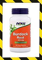 Now Foods, Корень лопуха (Arctium lappa) 430 мг, 100 капсул, фото 1