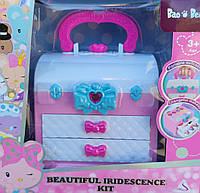Набор детской декоративной косметики в шкатулке розовая в коробке