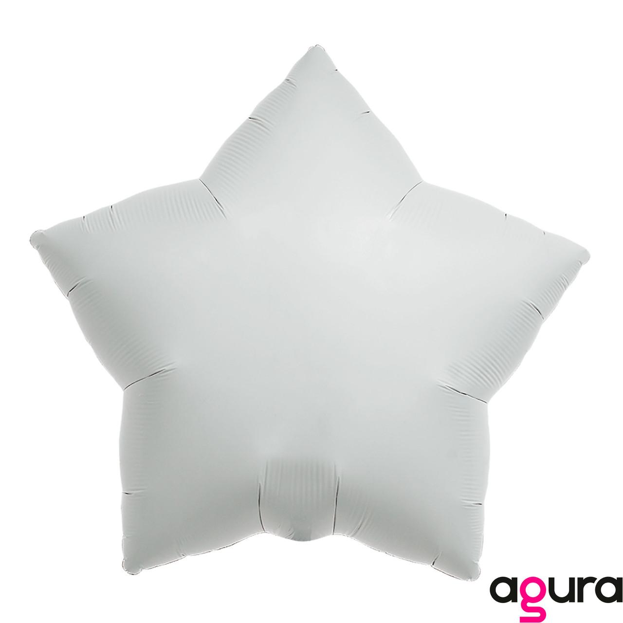 Фольгированный шар 19' Agura (Агура) Звезда Белый, 49 см