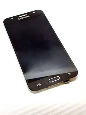 Модуль сенсор + дисплей черный  Samsung J5 J500H  оригинал б.у., фото 2