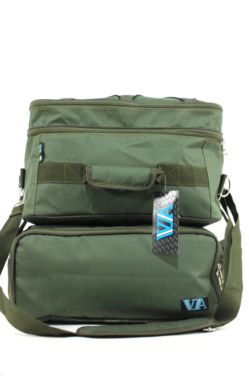 Вместительная сумка карповая с двумя отделами VA R-32 хаки