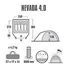 Палатка High Peak Nevada 4.0 (Nimbus Grey), фото 2