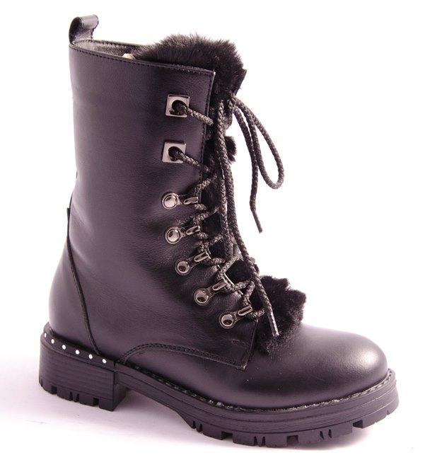 Ботинки подростковые черные Arial 19-1728