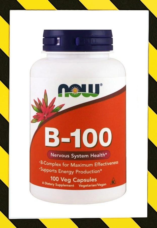 Now Foods, B-100, Витамины группы B 100 веганкапсул