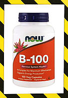 Now Foods, B-100, Витамины группы B 100 веганкапсул, фото 1