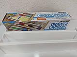 Выдвижной кухонный органайзер разделитель ящиков 2 шт, фото 3