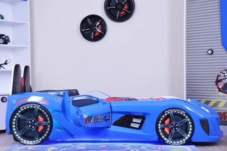 Боковины от детской кровати MUSVENUS Mvn3 Car Bed, Цвет синий, 242 см