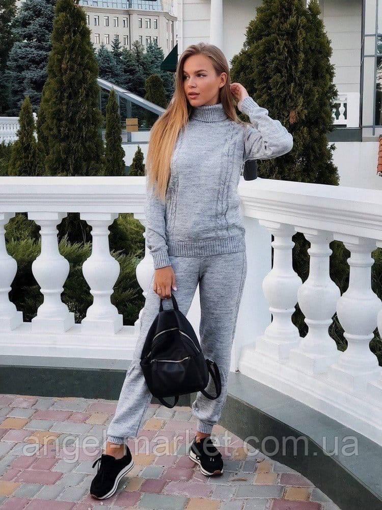 Женский вязаный спортивный костюм новинка  2020