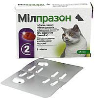 Мілпразон таблетки зі смаком м'яса від глистів для котів і кошенят вагою понад 2 кг, 2 шт