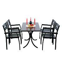 """Комплект меблів для літніх майданчиків """"Стелла"""" стіл (160*80) + 6 стільців Венге, фото 1"""