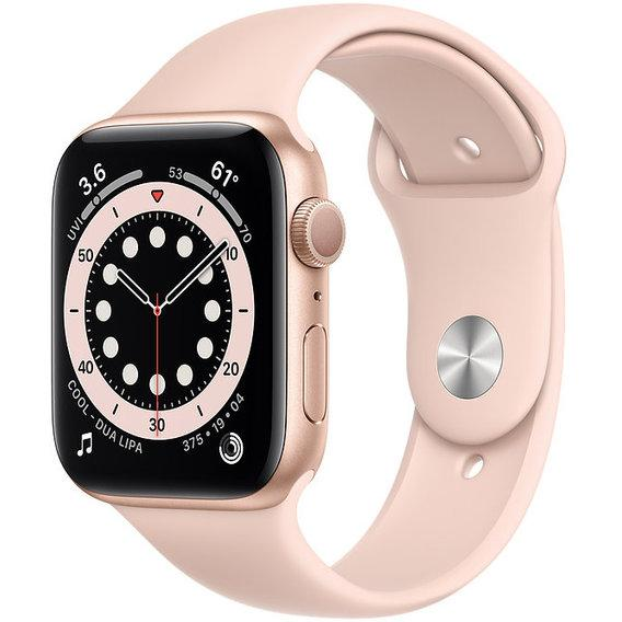 Apple Watch Series 6 44mm Gold Aluminum Case with White Sport Band (M00E3)