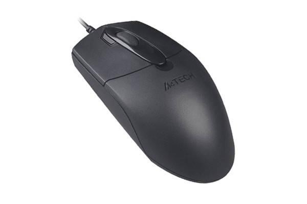 Мышь проводная A-4 Tech OP-730D (USB) Black, фото 2