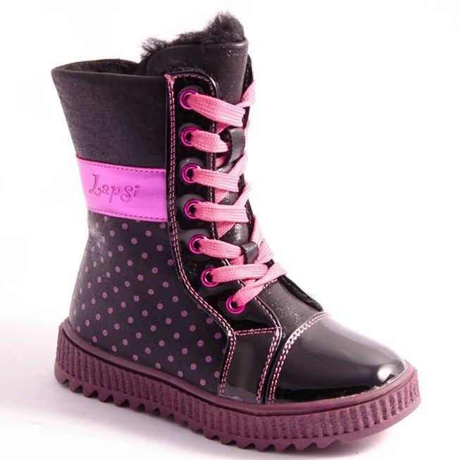 Ботинки детские черные Arial 5518-1636