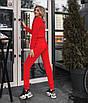Стильний однотонний костюм двійка : кофта та штани на флісі, фото 2