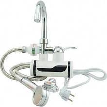Миттєвий проточний водонагрівач електричний кран Delimano Делімано з душем бокове підключення