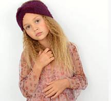 Стильна, красива пухнаста дитяча практична пов'язка на голову