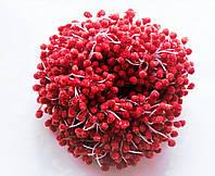 Тычинки Сахарные Красные на нитке 5 мм 850 шт/уп